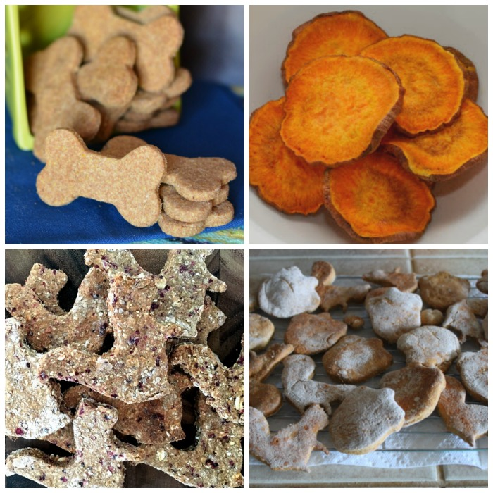 Homemade dog treat recipes - bacon and cornmeal biscuits, sweet potato treats., cranberry honey oat dog treats, pumpkin dog biscuits