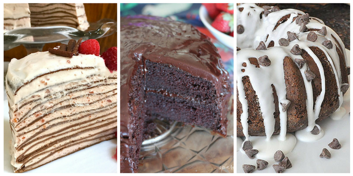 Ridiculously delicious chocolate cake recipes - chocolate crepe cake, chocolate buttermilk, and chocolate chip cake