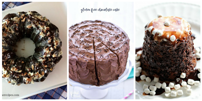 Ridiculously delicious chocolate cake recipes - German chocolate cake, gluten free chocolate cake, and molten chocolate cake