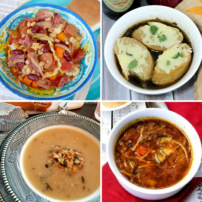 Winning Homemade Soups - Recipes for Portuguese Bean Soup, French Onion Soup, White Bean Soup, and Minestrone