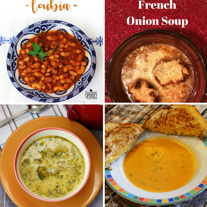Winning Homemade Soups - loubia, French Onion Soup, Broccoli Cheese Soup, and Dairy Free Tomato Coconut Soup