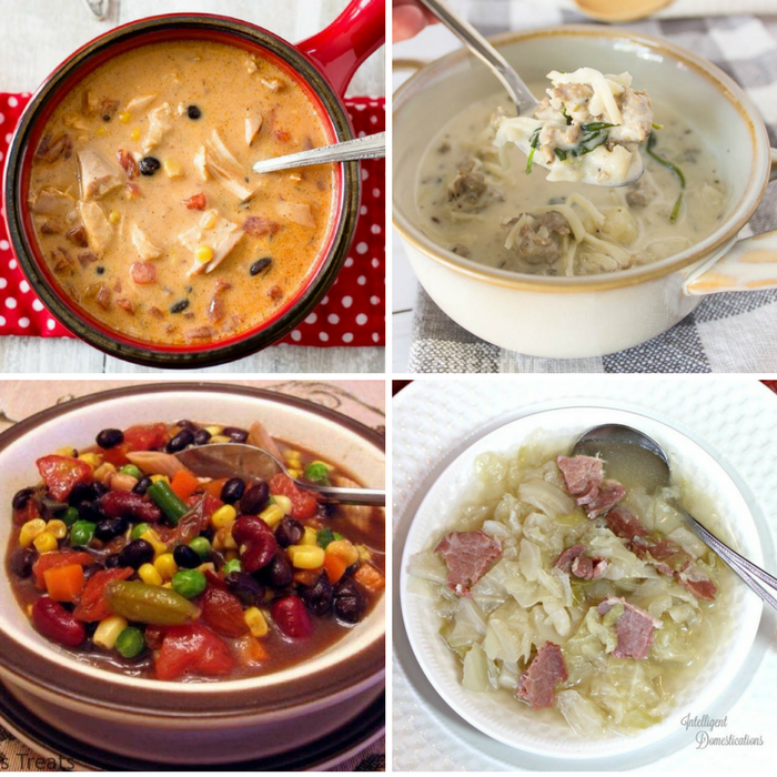 Winning Homemade Soups - Chicken Santa Fe Soup, Low carb Zuppa Toscana, 5 can dump soup, Southern cabbage soup