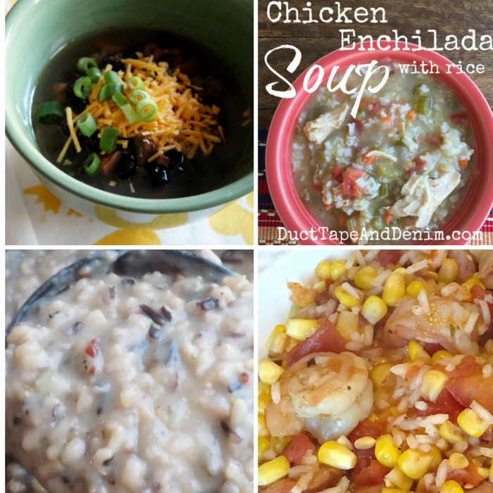 Winning Homemade Soups - Black Bean Soup, Chicken Enchilada Soup, Wild Rice & Mushroom Soup, and Shrimp Gumbo