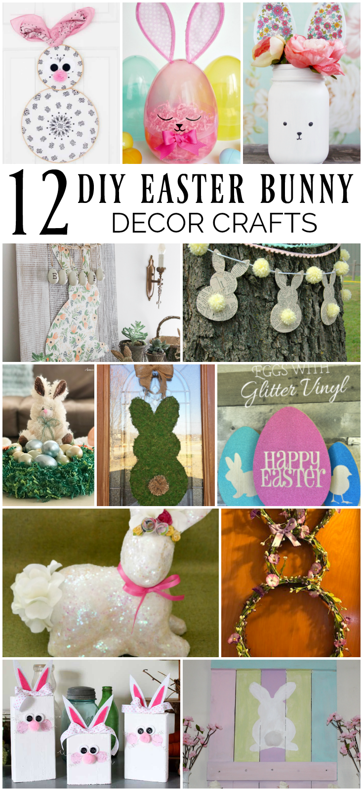 12 DIY Easter Bunny Decor Crafts