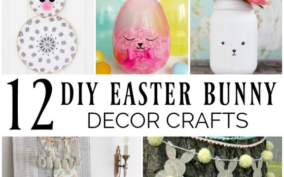 12 DIY Easter Bunny Decor Crafts – Merry Monday Link Party #196