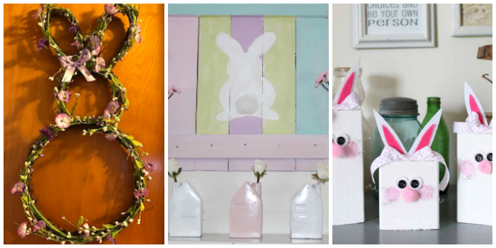 DIY Easter Bunny Decor Crafts - 4