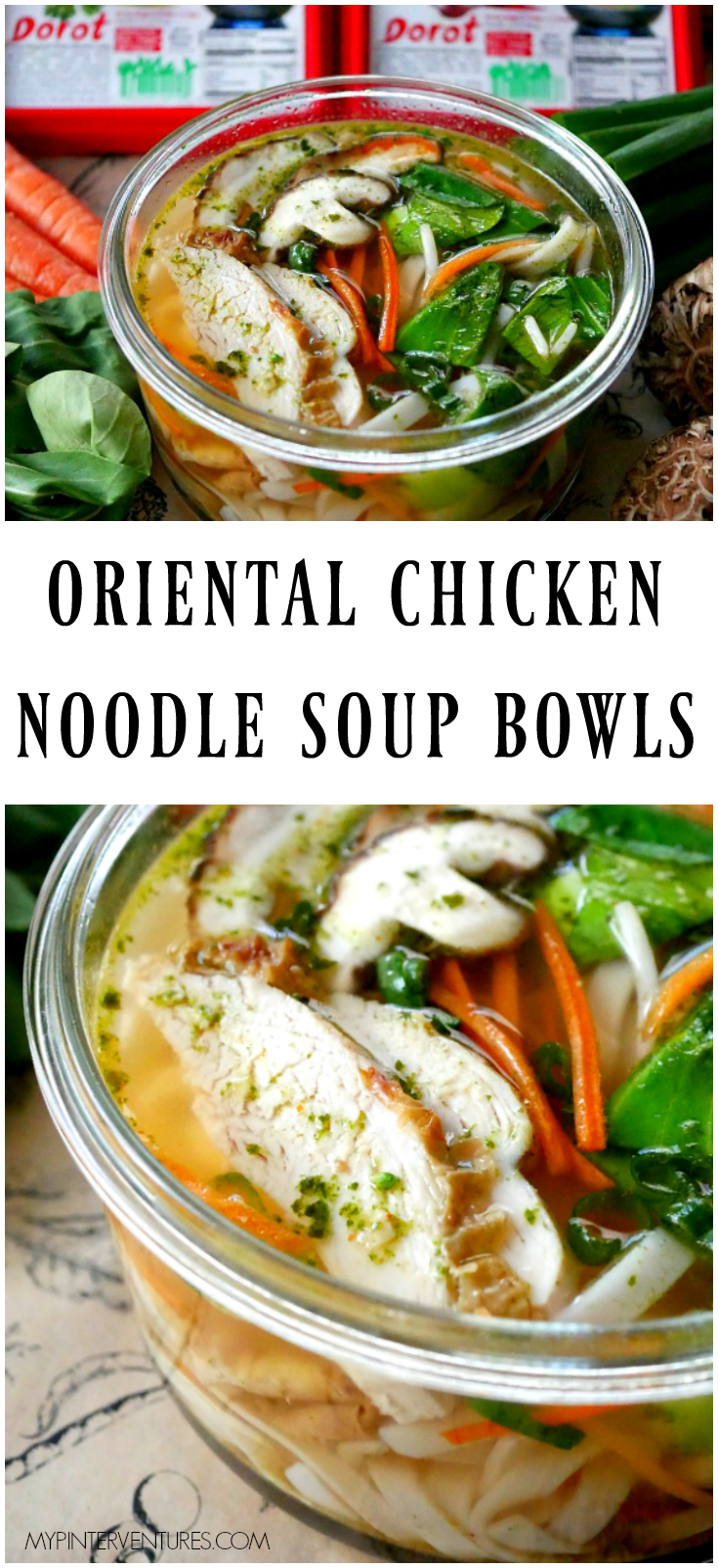 Individual Oriental Chicken Noodle Soup Bowls #ad #ElevateYourPlate