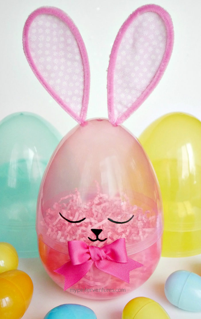 Finished giant sleepy Easter egg bunny