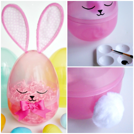 Giant Sleepy Easter Egg Bunny – Dollar Store Craft Challenge Blog Hop