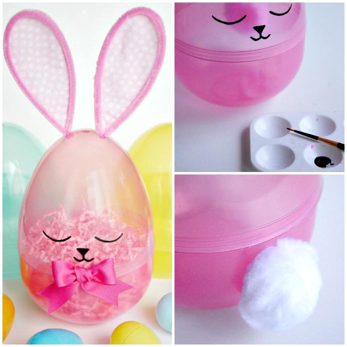 Giant Sleepy Easter Egg Bunny - Dollar Store Craft Challenge Blog Hop