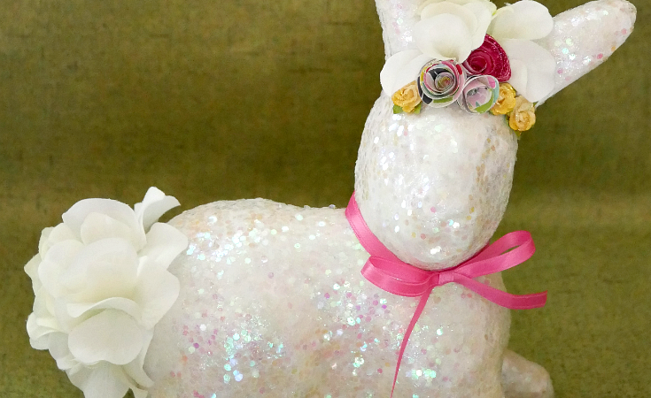 Sparkly Glitter Spring Bunny – Bling on the Crafts