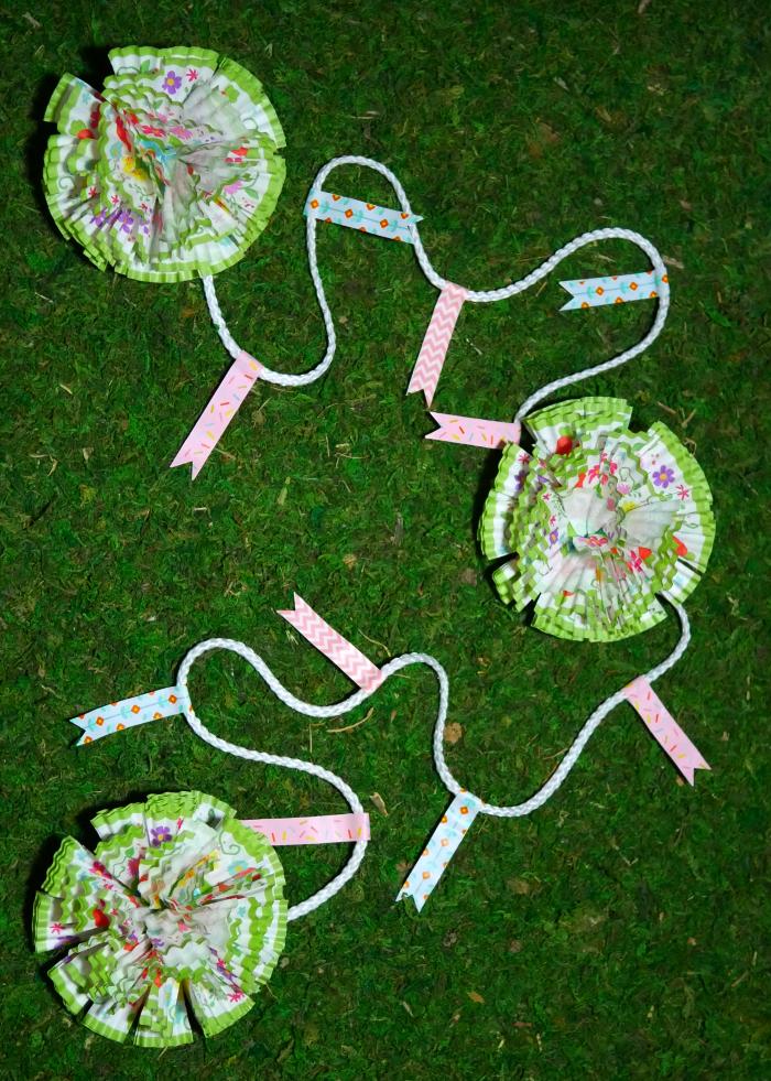 Spring Cupcake Liner Flower Garland