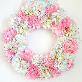 Spring Cupcake Liner Flower Wreath
