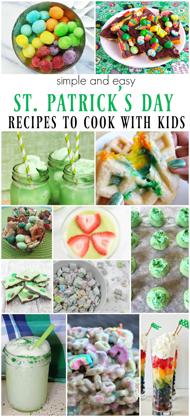 St. Patrick's Day Cooking with Kids - simple and easy recipes to make with kids.