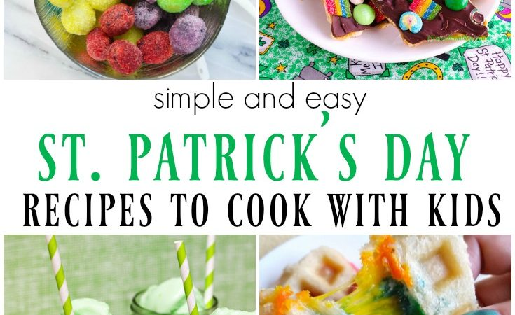 St. Patrick's Day Cooking with Kids – Merry Monday Link Party #194