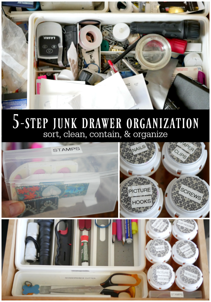 5-step junk drawer organization