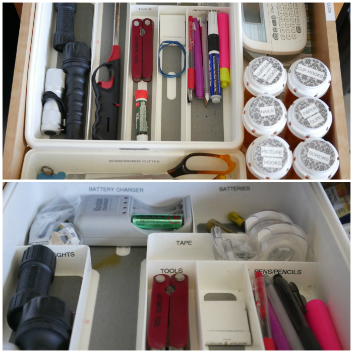 5-step junk drawer organized