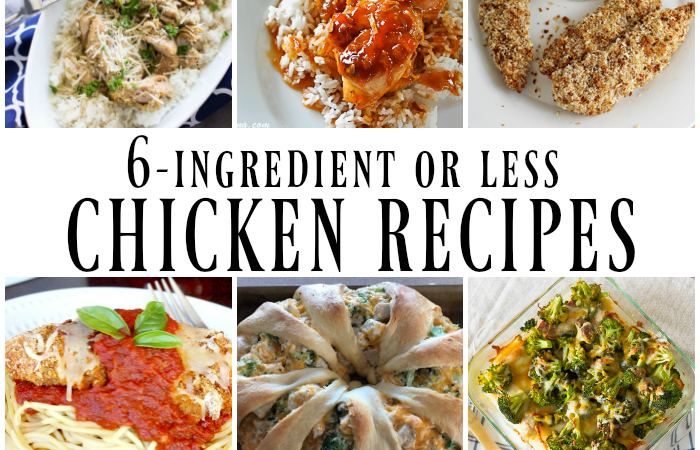 6-ingredient Chicken Dinner Recipe Ideas – Merry Monday Link Party #200