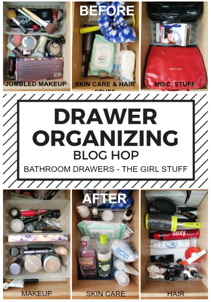 Bathroom Drawer Organization Blog Hop - The Girl Stuff