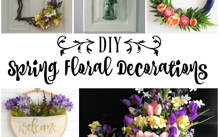 Spring floral decorations welcome spring link party features my diy spring floral decorations mightylinksfo