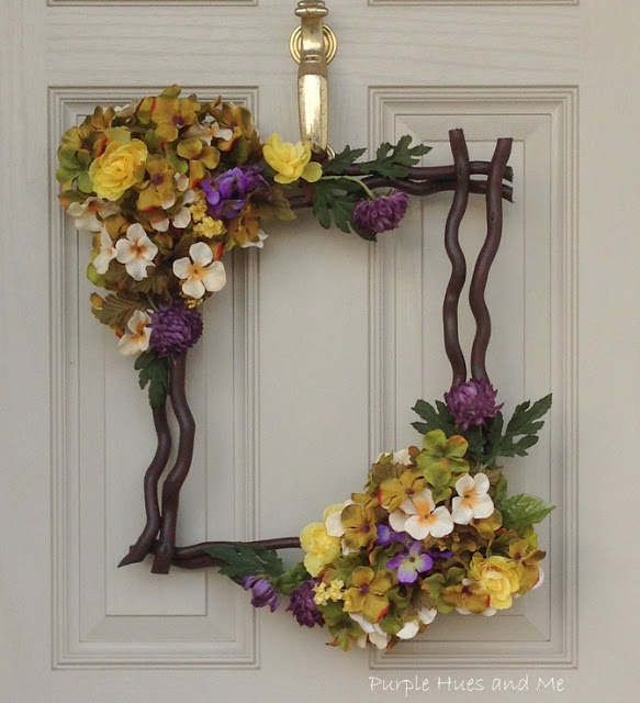 DIY Boxy Spring Wreath