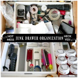 5-step Junk Drawer Organization – Week 1 Drawer Organization Blog Hop