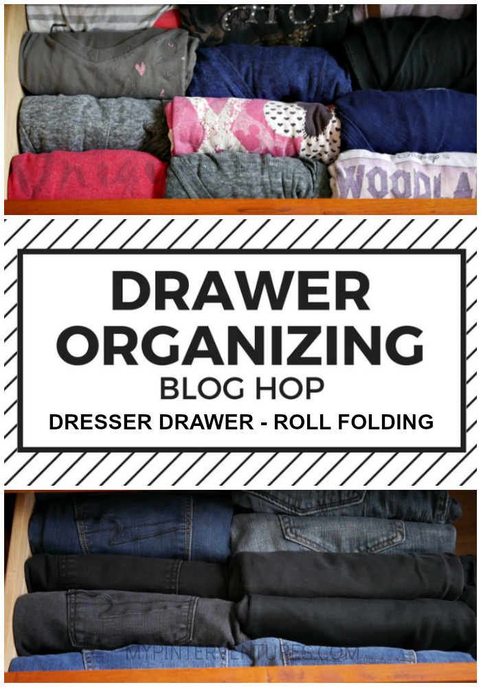 Roll folding - dresser drawer organization