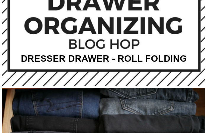 Roll Folding Dresser Drawer Organization Method