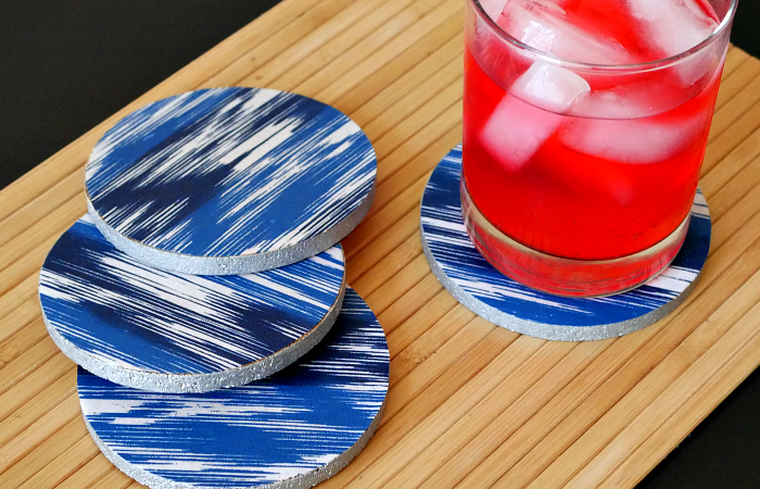 Ikat Screen Print Coasters
