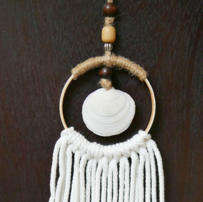 Mini Hoop Sea Shell Wall Hanging - April Pinterest Challenge