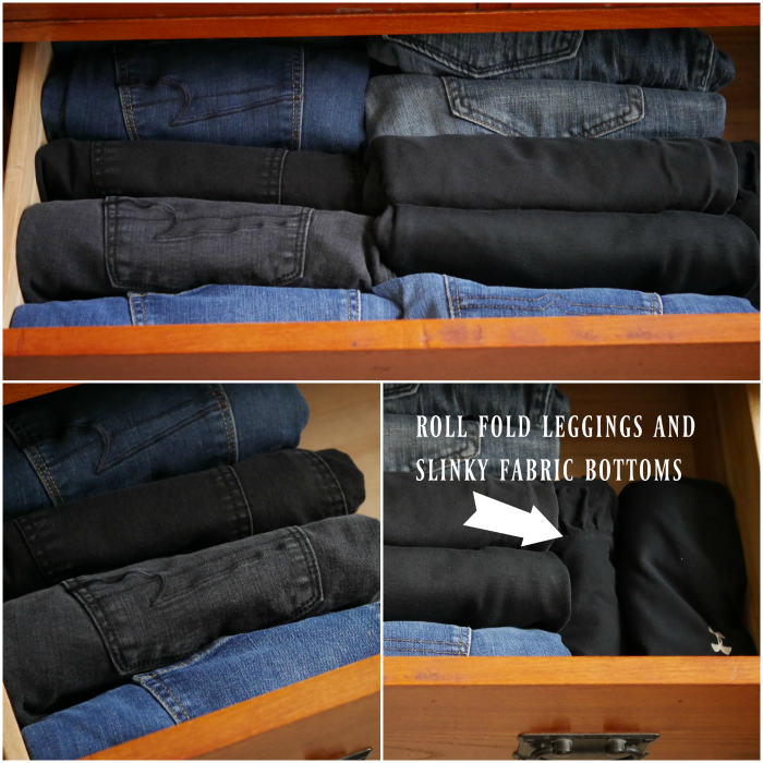 folded pant dresser drawer organization