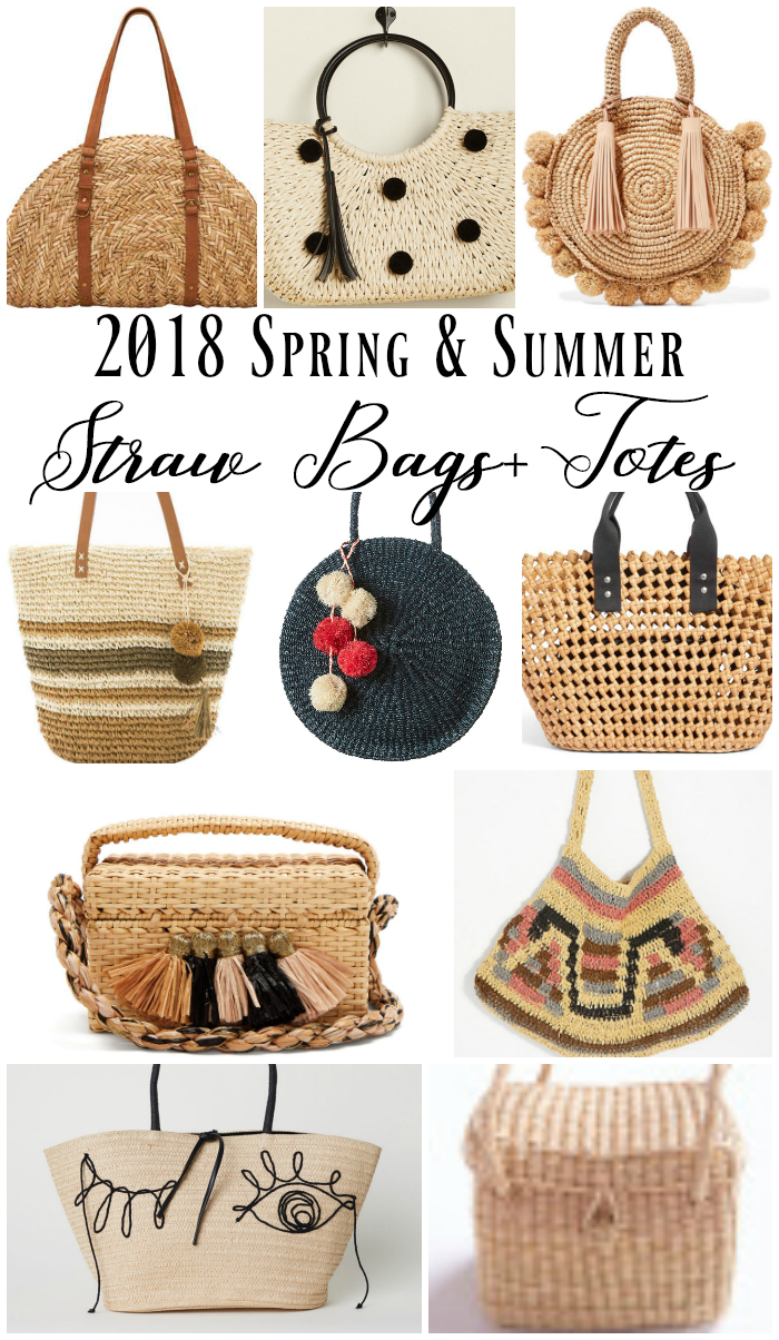 Spring and Summer straw bags and totes