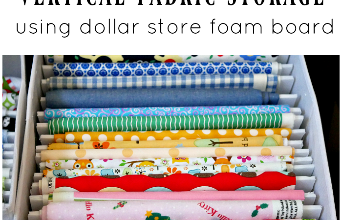 Vertical Fabric Storage Using Foam Board – Drawer Organization Blog Hop Week 2