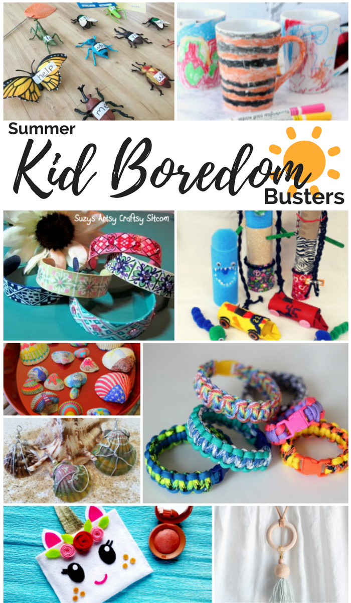Summer kid boredom ideas for young kids and teens.
