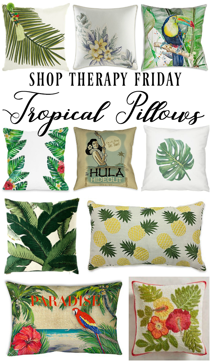 Tropical pillows for summer