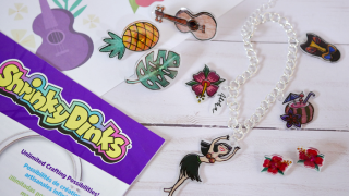 Tropical Shrinky Dink Charms and Pins