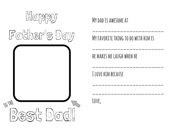 DIY Father's Day Coloring Card Template link