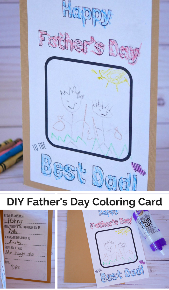 DIY Father's Day Coloring Card Printable