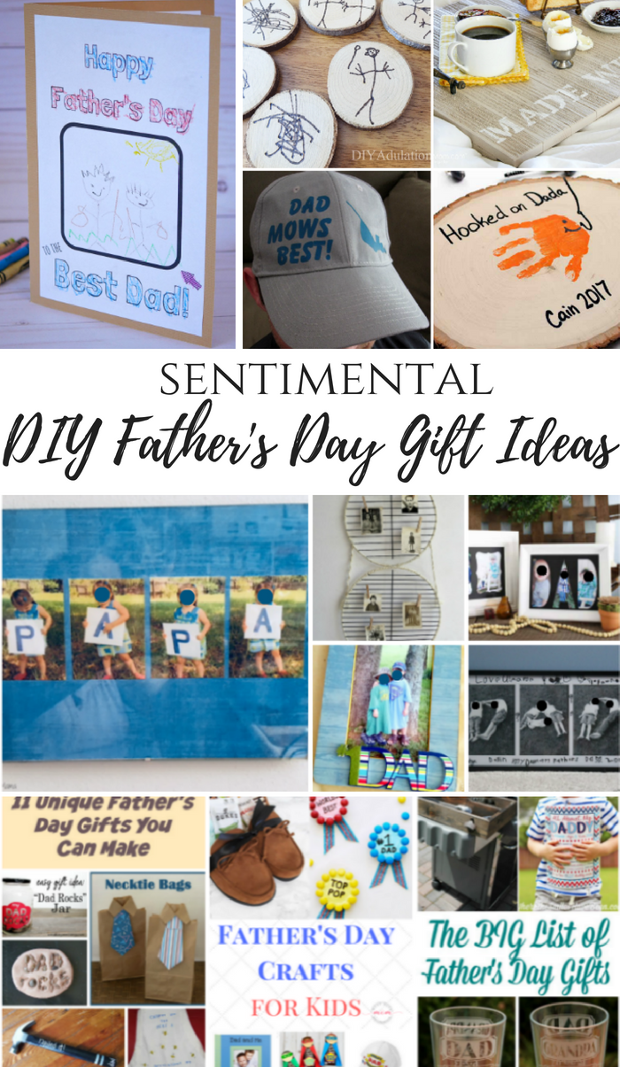 sentimental diy father s day gift ideas merry monday link party 208