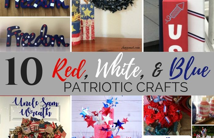 DIY red, white, and blue patriotic crafts slider