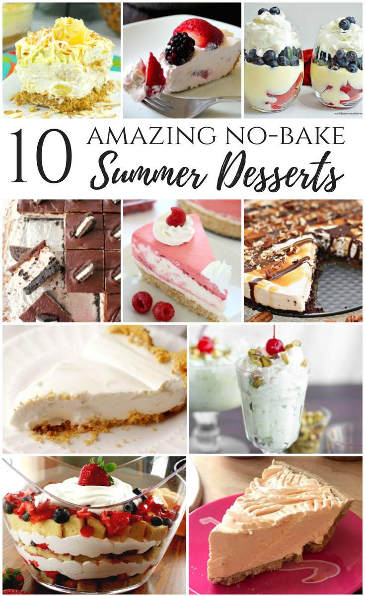 Amazing summer desserts that don't require the oven or heat! No-bake pies, no-bake cheesecakes, no-bake trifle, and more!