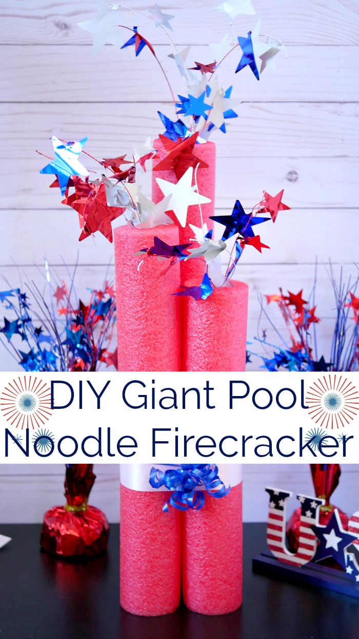 DIY Giant Pool Noodle Firecracker Decoration