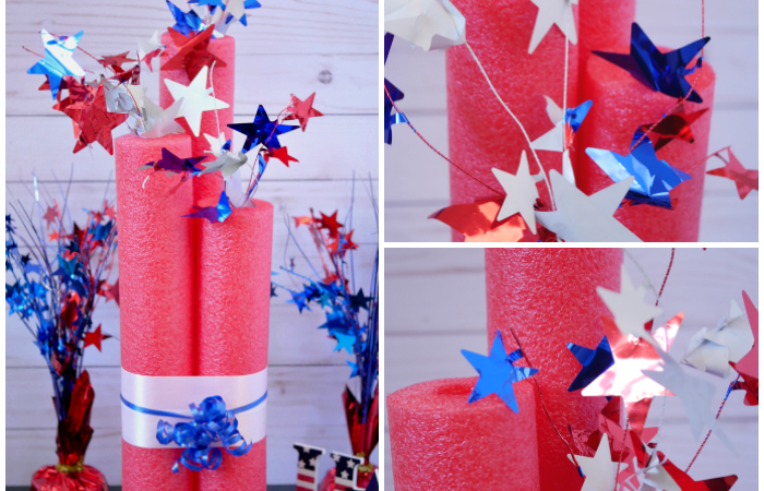 DIY Giant Pool Noodle Firecracker Decoration