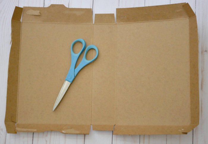 DIY Journal Book for Summer cardboard box cut open