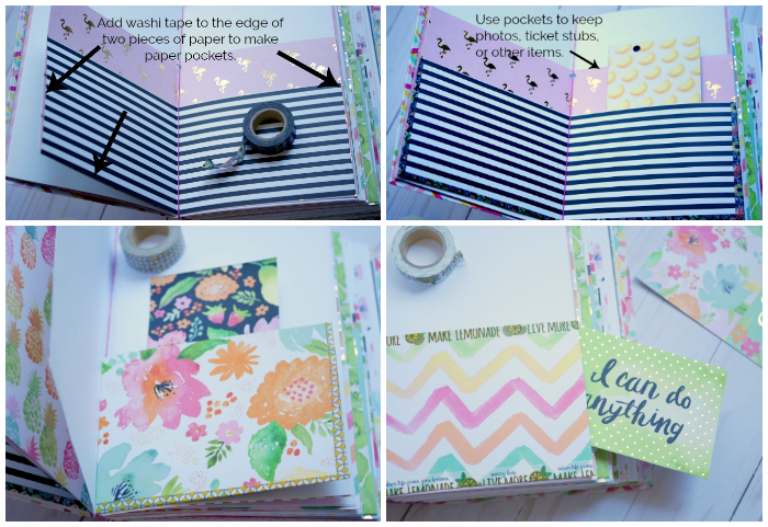 DIY Journal Book pockets