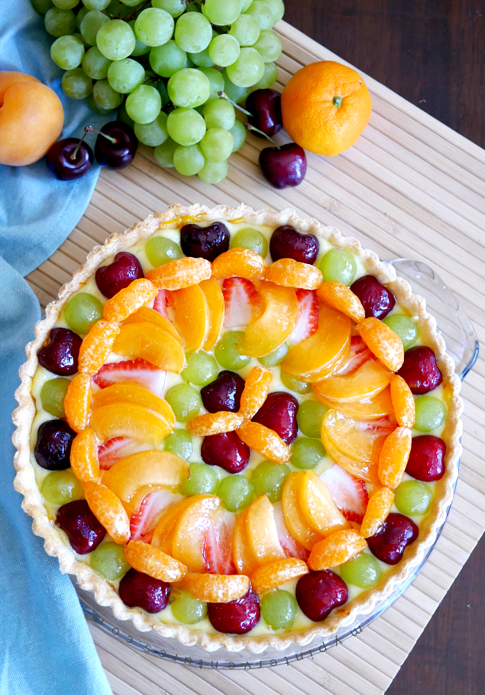 Fresh Fruit Tart with Orange Curd
