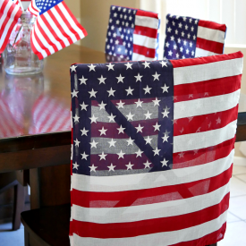 Patriotic flag dining chair covers