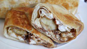 Nutella Peanut Butter Banana S'more Burritos