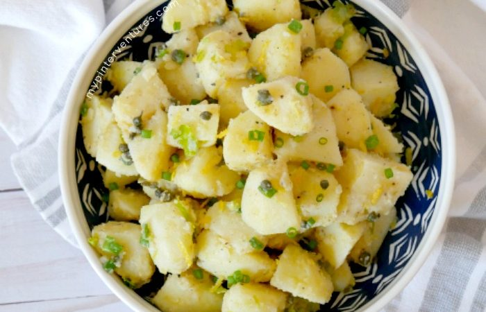 Tangy Mayo-free Capers Potato Salad