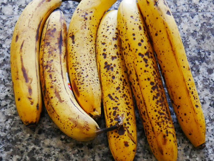 overripe bananas for banana bread
